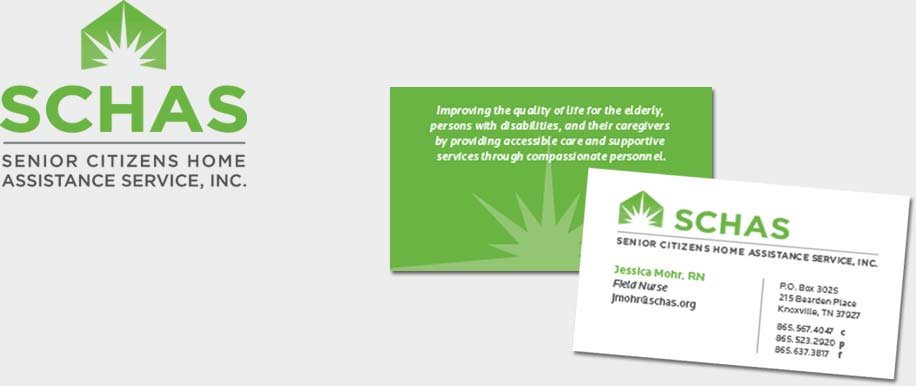 New logo and business card for Senior Citizens Home Assistance Service